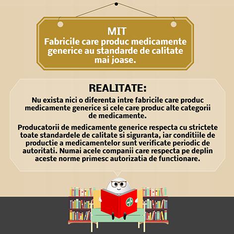 Fabricile care produc medicamente generice au standarde de  calitate mai joase