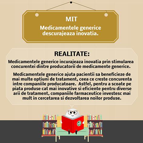 Medicamentele generice descurajeaza inovatia.