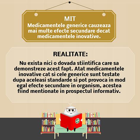 Medicamentele generice cauzeaza mai multe efecte secundare decat medicamentele inovative